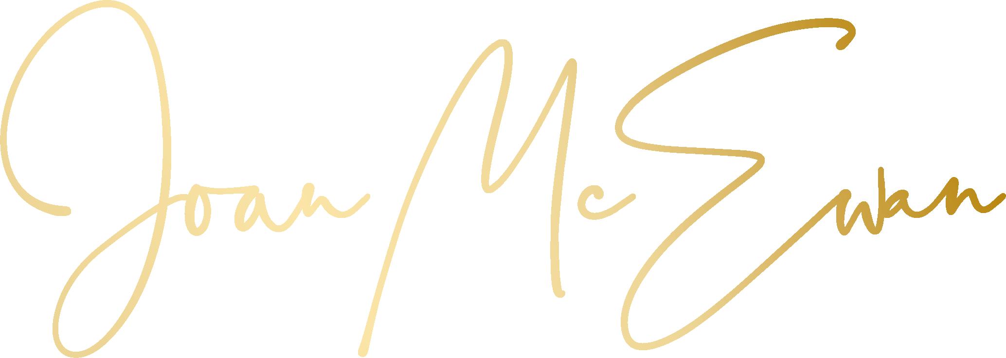 Joan McEwan logo_Gradient Gold